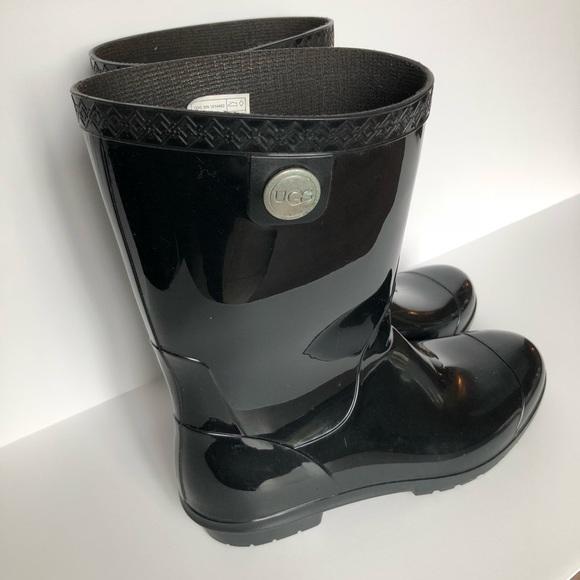 cf401831b10 UGG blk Sienna rain boots women's sz 9